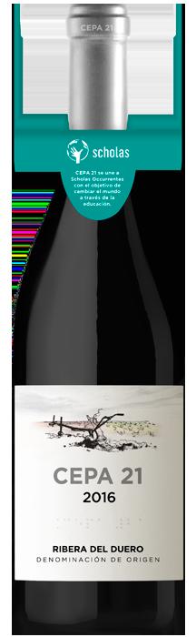 Botella solidaria de Cepa 21